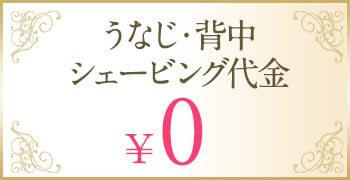 うなじ・背中シェービング代金0円