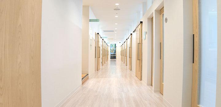 施術室が18室あり、予約が取りやすい