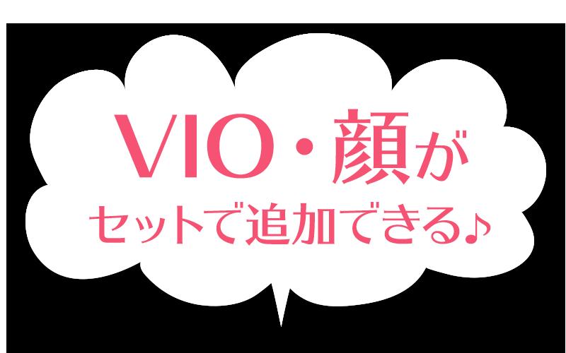 VIO・顔がセットで追加できる